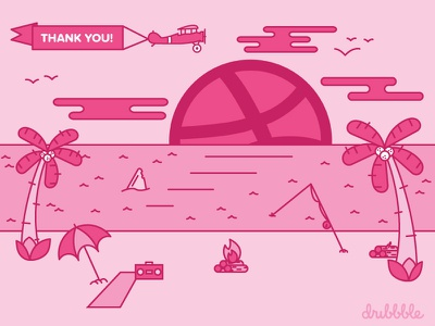 The Perfect Way To Start Summer! simple summer dribbble debut