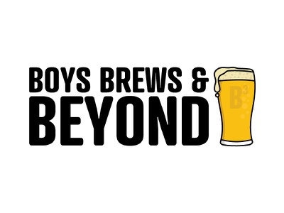 Boys Brews & Beyond Podcast Branding illustration icon logo podcast beer branding