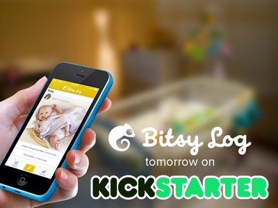 Bitsy Tomorrow baby app iphone chameleon kickstarter cute