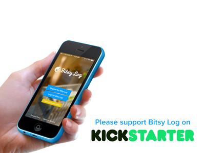 Bitsy Log on Kickstarter! baby app iphone chameleon kickstarter cute