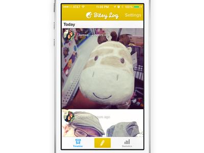 Bitsy Log Photos baby app iphone chameleon kickstarter cute photos timeline giraffe