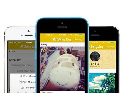 New Graphic for Kickstarter Campaign baby app iphone chameleon kickstarter cute