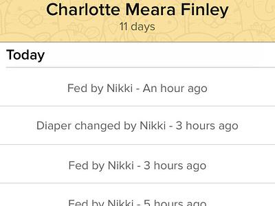 Charlotte Meara Finley baby app iphone chameleon birth