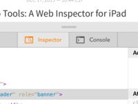 Upcoming Tab Bar for Web Tools