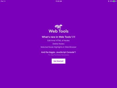 What's New Screen ui ipad app ios