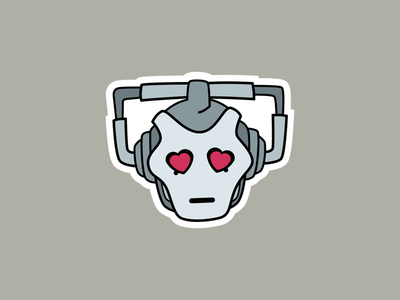 Emotional Cybermen imessage ios sticker robot cybermen doctor who