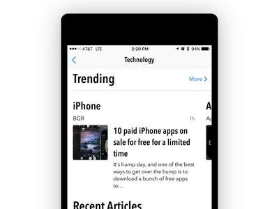 Tease Two news ios articles app