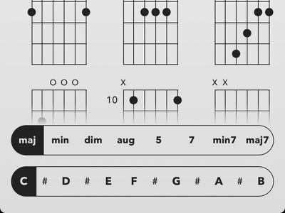 Hand Crafted App In Progress chords guitar app ios love interface ui ux