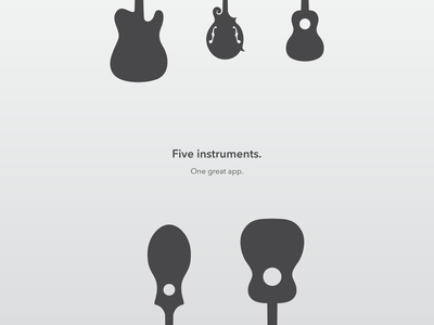 Five Instruments. ios ipad app music guitar ukulele dulcimer mandolin