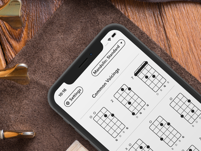 Selah Chords minimalism guitar interface iphone ipad ios ukulele dulcimer banjo mandolin chords app
