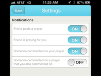 Prayrbox Settings