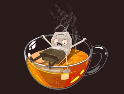 Have some tea dring hot creepy nice funny cute tea