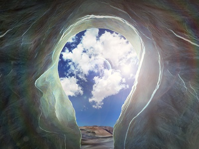 Mirrors of the Mind photomanipulation mind photoshop album grasshopper silhouette cave inner thoughts