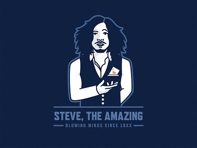 Steve, The Amazing illustration detroit magic steve the amazing magician