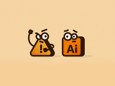 Glitch Bully icons error message illustrator bullying glitch unexpectedly quits adobe