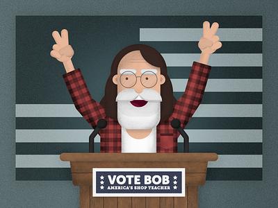 Vote Bob dad illustration bob