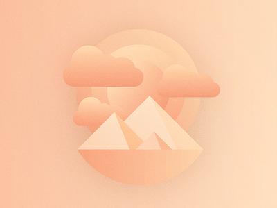 Δ Δ Δ delta outdoors pyramids minimal mountains illustrator