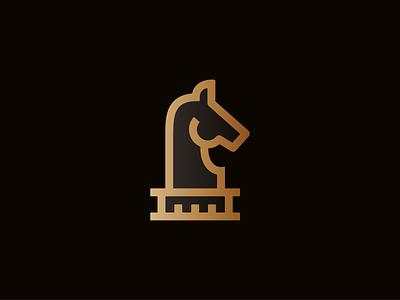 Steed icon chess knight horse illustrator