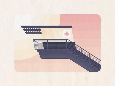 La Jolla Lifeguard san diego illustration illustrator la jolla lifeguard