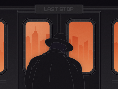 Last Stop line illustrator last stop train new york subway city