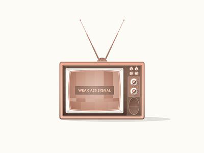 Weak Signal tv weak signal retro vintage television illustrator