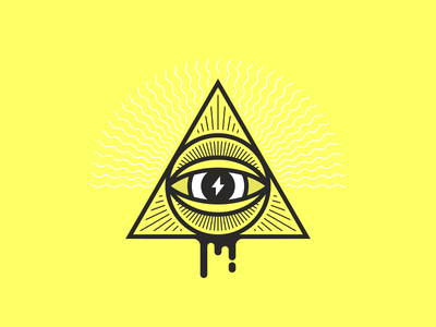 Electric Eye electric eyeball line eye illustrator