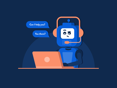 Chatbot robot chatbot simple illustrator