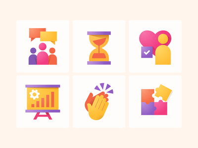 Workplace Empathy Icons adobe illustrator simple empathy workplace