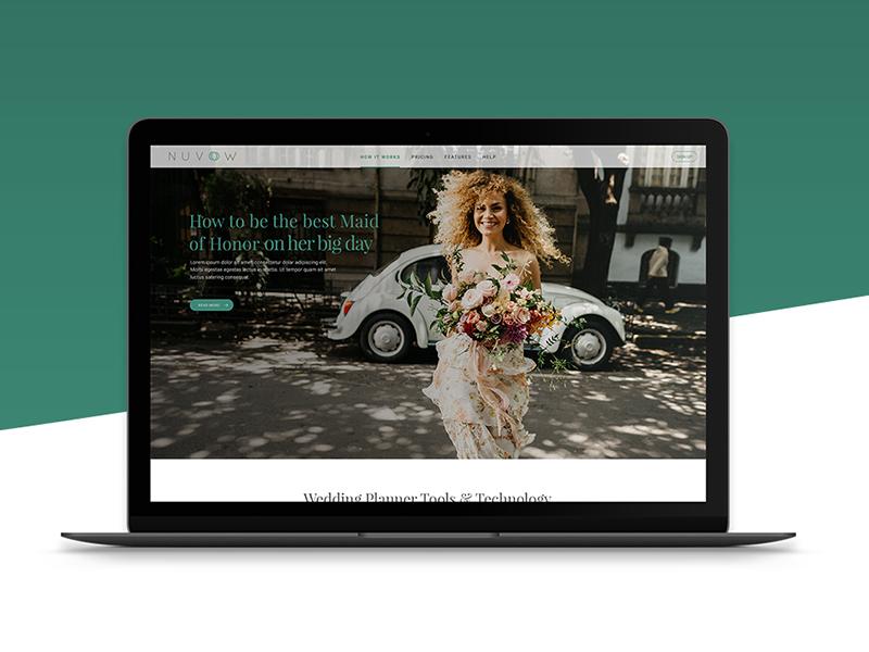 Nuvow Blog Concept & Logo Creation layout blog wedding illustrator case studies branding logo design ui design website design