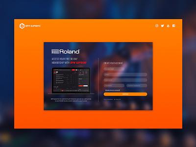 Roland Landing Page case studies music responsive design web design ui design