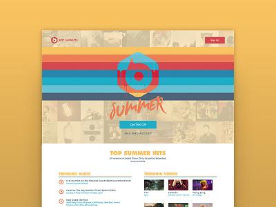 BPM Supreme Summer Campaign dj record pool music summer logo design landing page website design ui design ux design