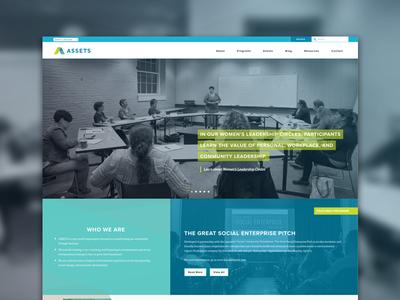 ASSETS web design wordpress bright colors website design homepage