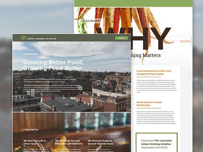 Lancaster Urban Farming Initiative donate non profit city agricultural one page website single page site informational community food web design alternative navigation lancaster