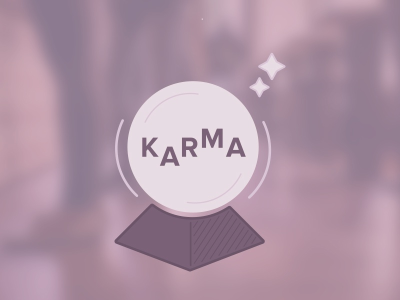 Karma shades magic karma crystal ball purples illustration