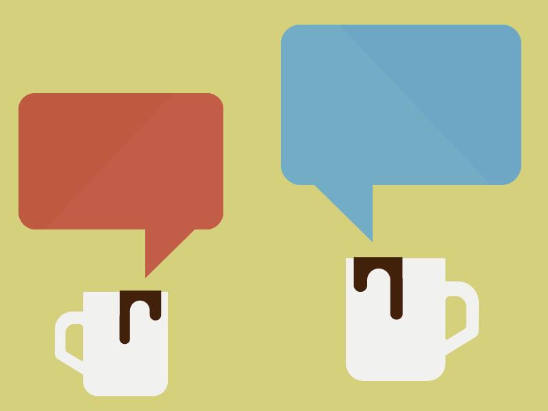 Coffee & Critique critique chat coffee illustration