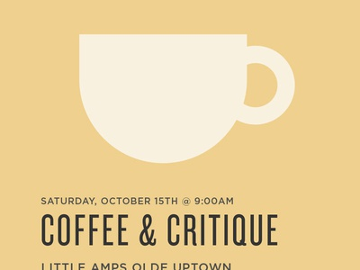 Coffee & Critique: Updated
