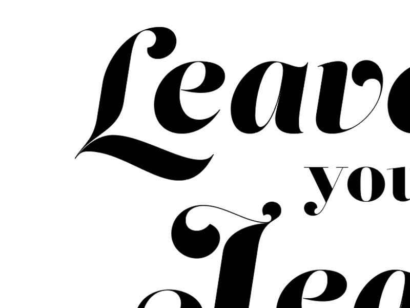 Sneak Peak, in progress typography