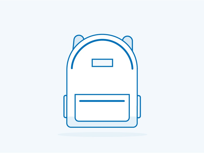 Whatcha Packin'? lines line illustration backpack monochromatic simple illustration