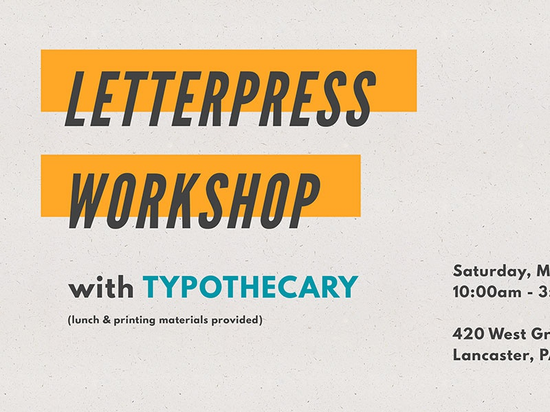 Letterpress Wrkshp sans serif condensed type texture typography