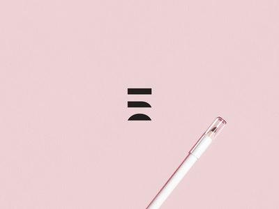 Eyebrows brows the brow spa brand design bold modern logo minimalist clean design brand identity design logo identity pink shapes small business start up logo eyebrows graphic design identity mark logo branding