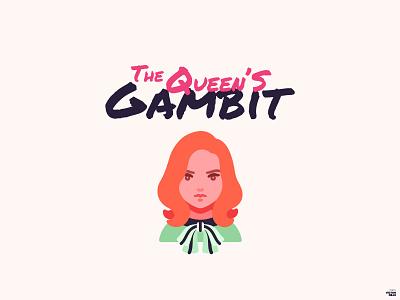 The Queen's Gambit Fan Art netflix design vector illustration graphic design