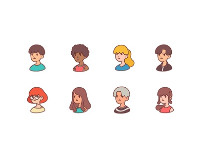 People avatar character design graphic design avatar icons