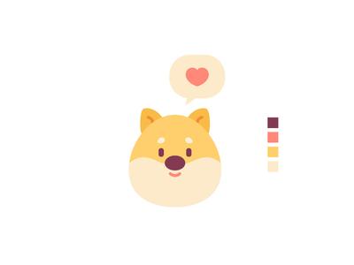 Shiba Dog message love animal character design shiba icons dog