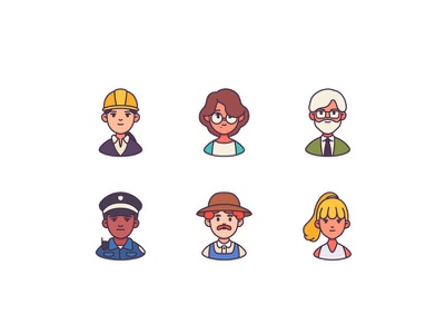The Beauty Of Diversity graphic  design fashion branding diverse character icons logo vector graphic design illustration character design avatar