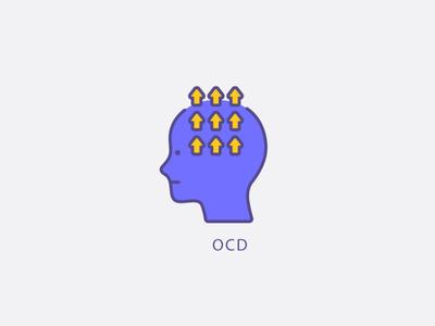 OCD psychology medical mentalhealth branding design vector graphic design illustration icons