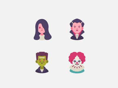 Halloween Gangster character fashion branding design vector character design graphic design avatar illustration icons