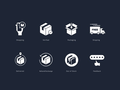 Logistics Elements vector website shipping delivery glyph solid logistics branding ui graphic design illustration icons