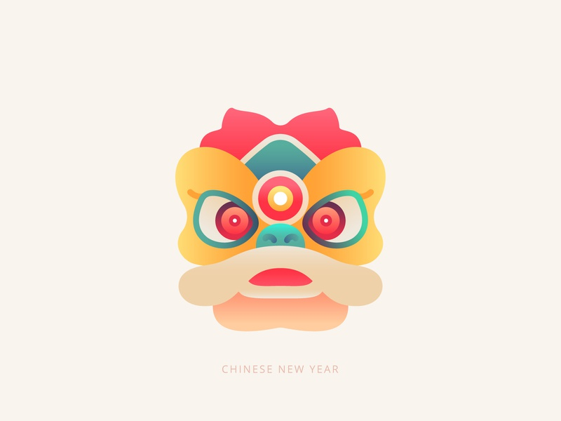 Chinese New Year lion dance new year chinese new year character design character design vector graphic design avatar illustration icons