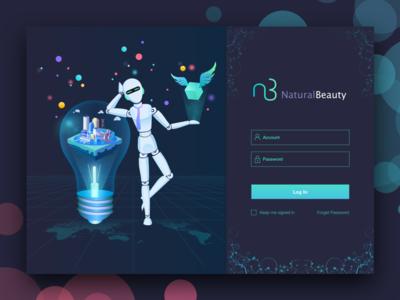Natural beauty login interface