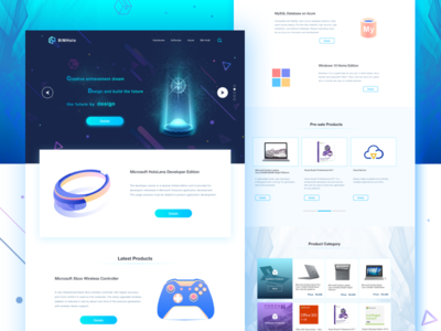 BIMholo Holographic Technology Platform Store ui design ux ue ui web visualization mixed reality product interface interactive illustration icons hololens design building